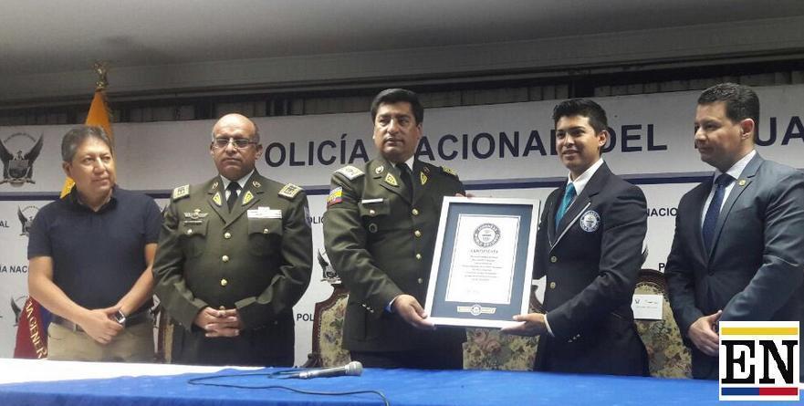 policia nacional record guinness