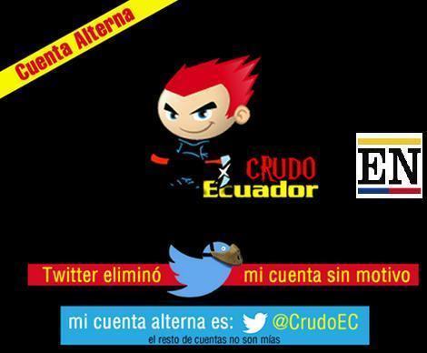 Twitter Elimino La Cuenta De Crudo Ecuador Ecuador Noticias