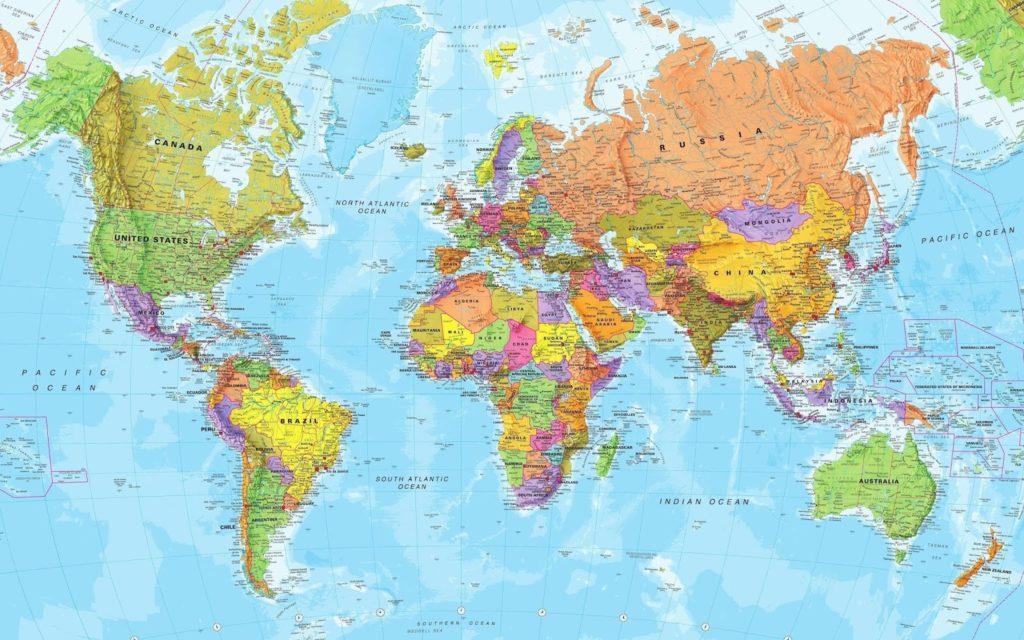 mapa mundo politico