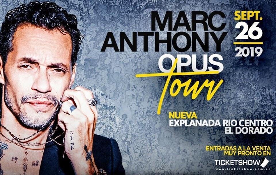 Concierto de Marc Anthony en Ecuador 2019
