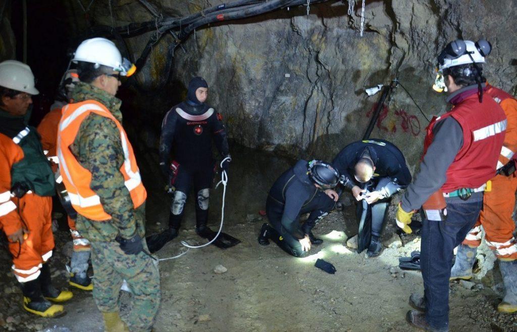 Tres mineros atrapados en Chile