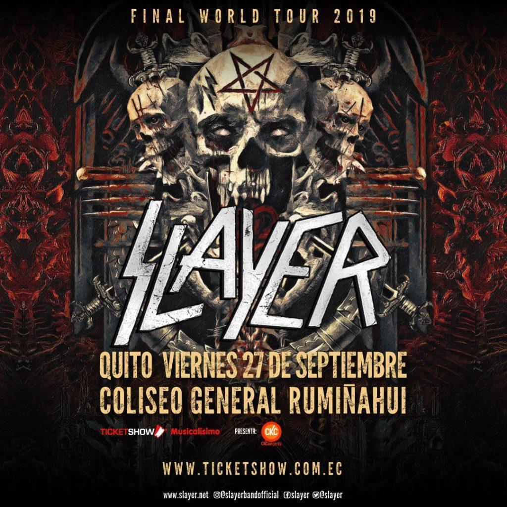 concierto de Slayer en Ecuador