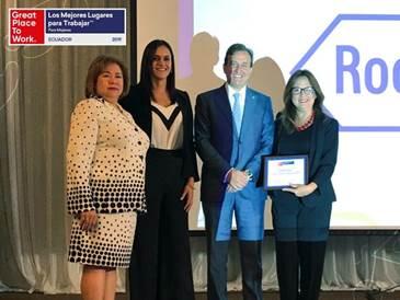 Roche Ecuador reconocida como una de las mejores empresas para trabajar