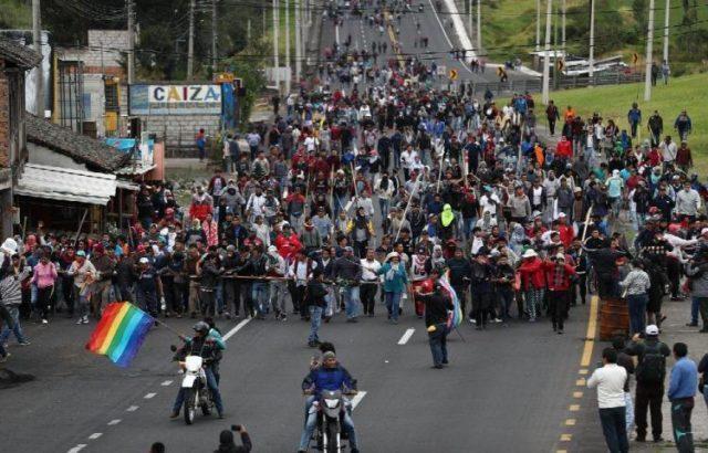 indigenas ecuador manifestaciones
