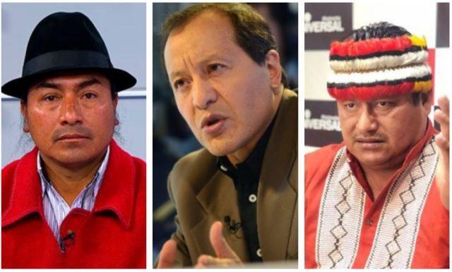 lideres indigenas de ecuador