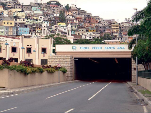cierre tunel cerro santa ana