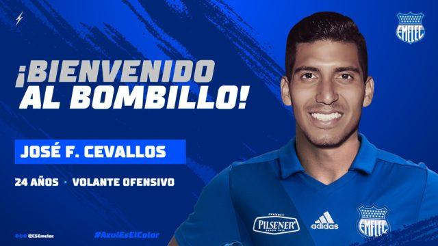 Jose Francisco Cevallos nuevo jugador de Emelec.