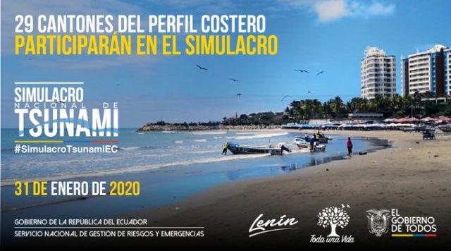 simulacro de tsunami en Ecuador