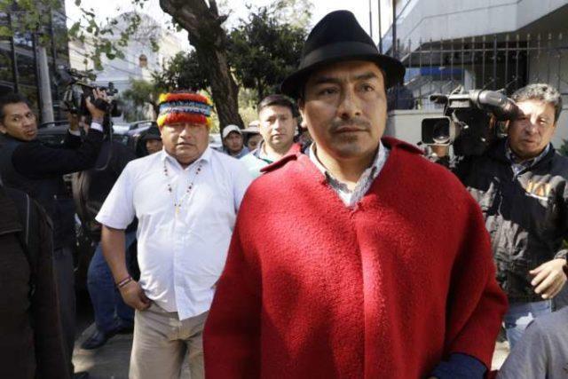Jaime Vargas y Leonidas Iza a la Fiscalía