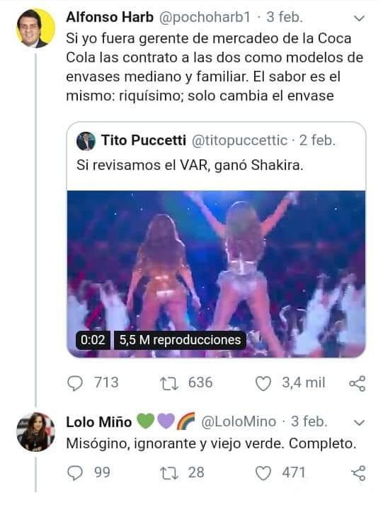 lolo miño vs pocho harb en Twitter