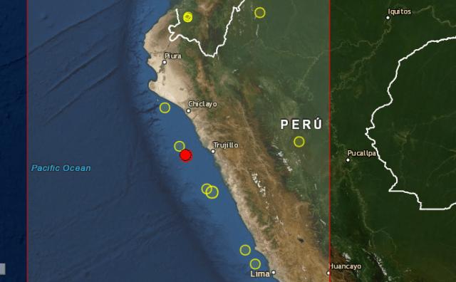 sismo en Trujillo Peru