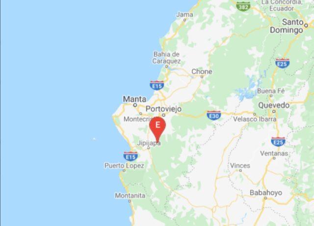 Temblor en Manabí, Ecuador