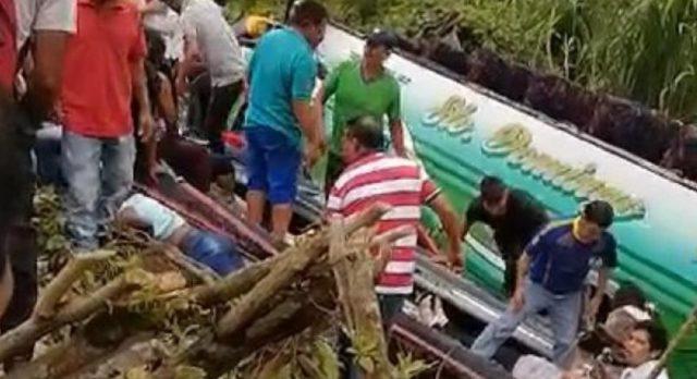 accidente en Santo Domingo del 1 Marzo 2020
