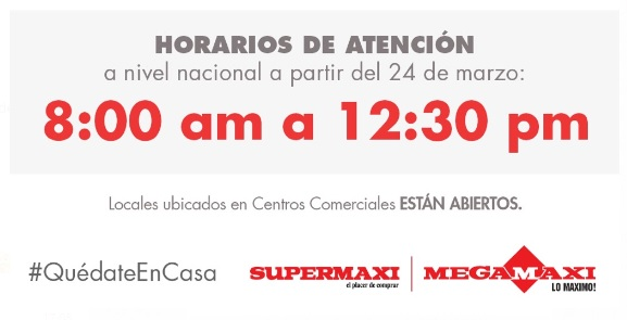 supermaxi horario atencion
