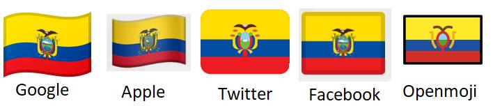 bandera ecuador emoji