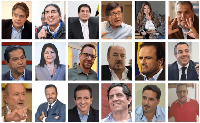 candidatos presidencia ecuador