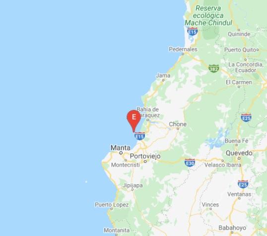 temblor en Bahía Manabi Ecuador